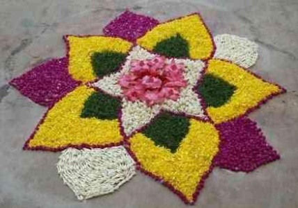 Flower Rangoli Design Ideas