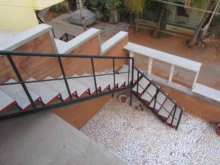 Mosaic floors as viewed from the terrace