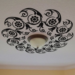 Flowers in Circle Ceiling Decal ( KC077 )
