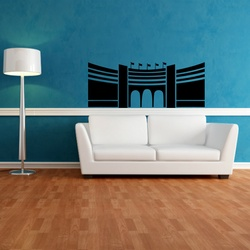 Red Fort Wall Decal ( KC206 )