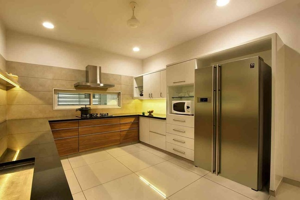 Kitchen Floor Tiles Idea by Interior Designer Archis Patel & Tanvi Rajpurohit