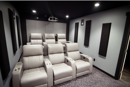 Beau ... Home Theatre Designs For Inspiration. Horizon Fabric Acoustic Panels