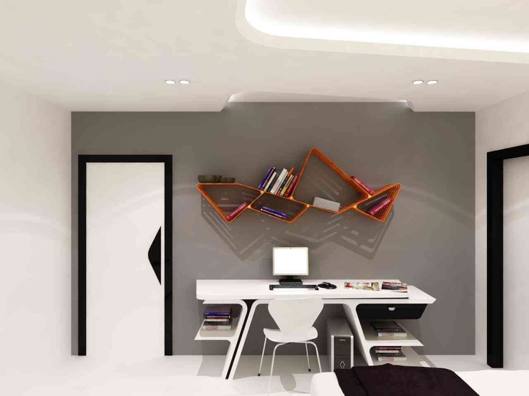 Innovative Design for Book Shelve at the flat