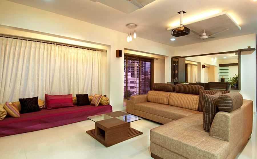Aniket viswasrao residence by rajiv garg interior for Home wallpaper chennai