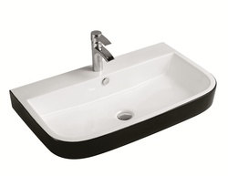 Sestones Bellina White and Black Designer Basin