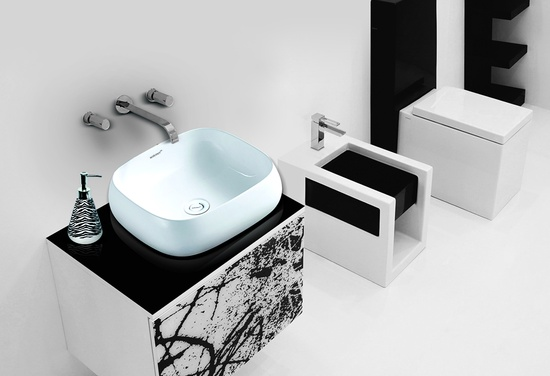 Sestones Raul White Ceramic Countertop Basins