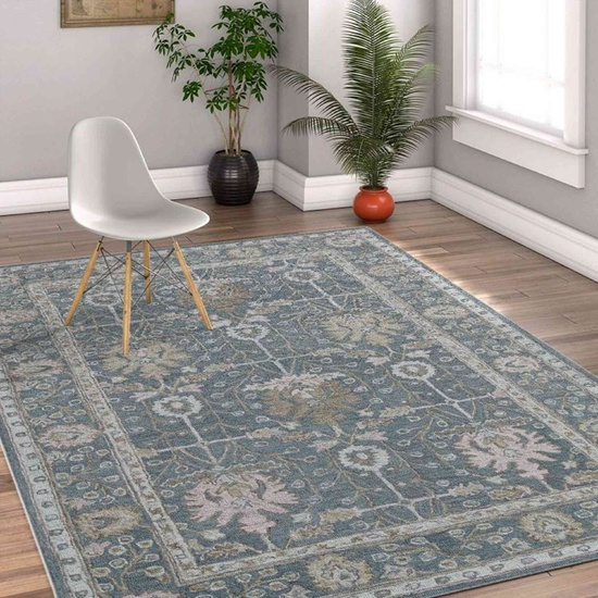 Hand Tufted Boston Modern Area Rug 5'x8' (Pigeon Grey) For Living/Drawing/Bedroom