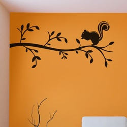 Cute Squirrel Wall Decal ( KC023 )