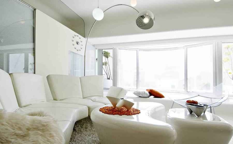 Plush White Living Room Trinity by Sonali
