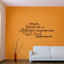 Smile is the Best Language Wall Decal ( KC375 )