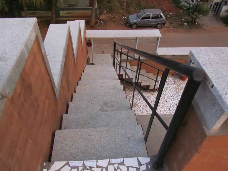 External Staircase as viewed from the Terrace