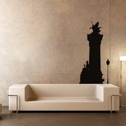 Warrior Princess and Flying Horse Wall Decal ( KC232 )