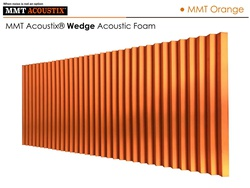 MMT Acoustix® Wedge Acoustic Panels MMT Orange