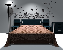 Butterflies and Vine Wall Decal ( KC159 )