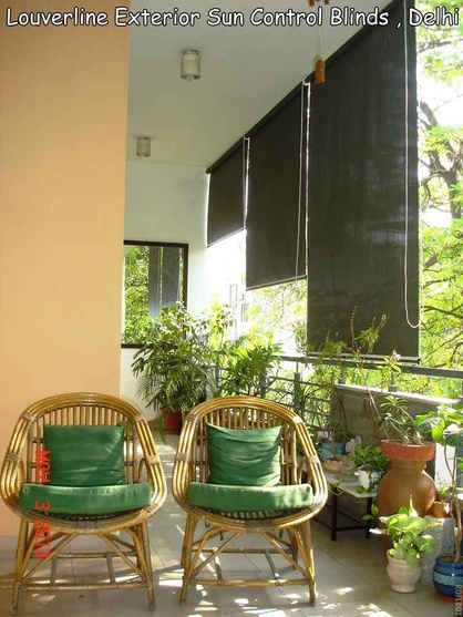 Sun Control Blinds used in the balcony-exteriors