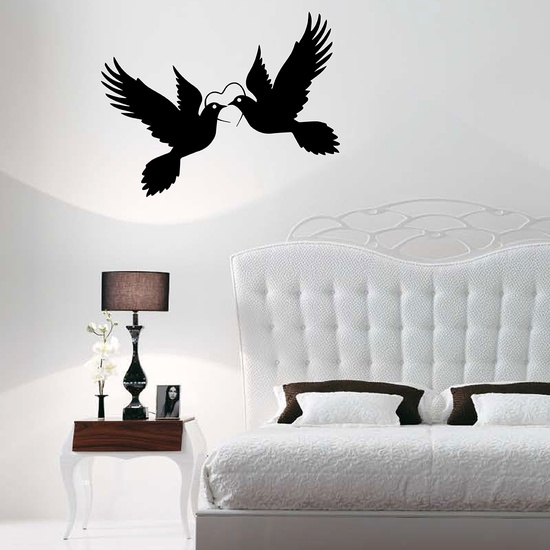 Love Doves Wall Decal ( KC279 )