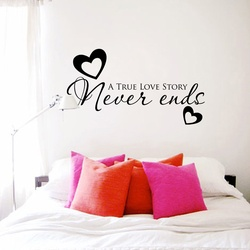 True Love Story Wall Decal ( KC395 )