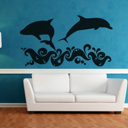 Delightful Dolphins Wall Decal ( KC150 )
