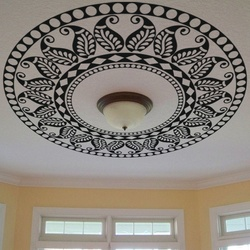 Abstract Leaf Pattern Ceiling Decal ( KC078 )