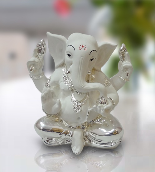 Buy White Ganesh Idol Online White Ganesha Statue For Sale