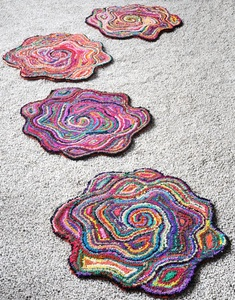 Rose Hand-tufted Flower-shaped Rugs