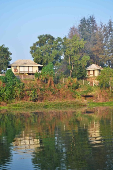 View of the House from across the river