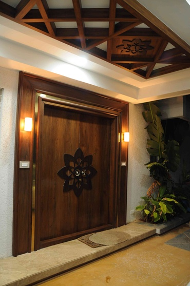 Villa koncept ambience by samanth gowda architect in for Entrance door designs india