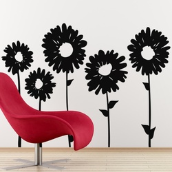 Sun Flowers Wall Decal ( KC024 )