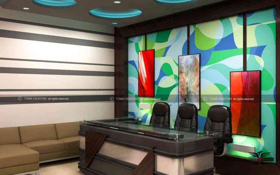 Builder office interior by Bhawik Chawda, Interior Designer in , India