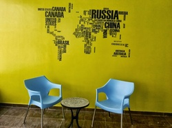 Jumbled Nations Wall Decal ( KC014 )