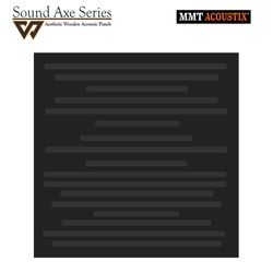 MMT Acoustix® SoundAxe Wooden Acoustic Panels Wave 23'x23'