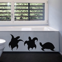 Threesome Turtles Wall Decal ( KC256 )