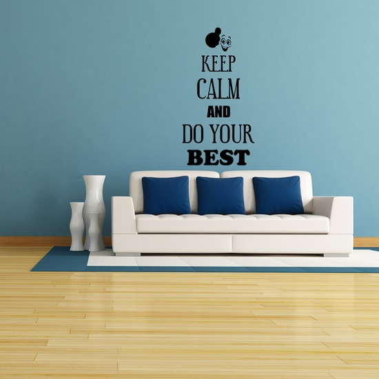 Keep Calm and Do Your Best Wall Decal ( KC365 )
