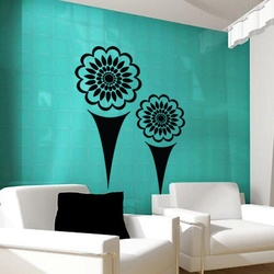Flowers And Cones Wall Decal ( KC191 )