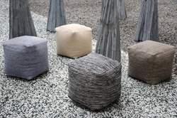 Muse Hand-woven Wool Poufs