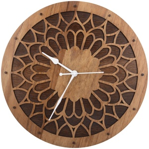 Wooden laser cutting clock
