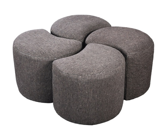 Sanoma Luxury Cotton Poufs/Stools