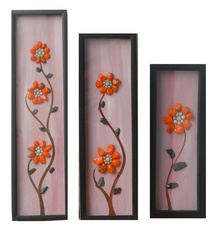 Flower Set – Framed Natural Stone Wall Art