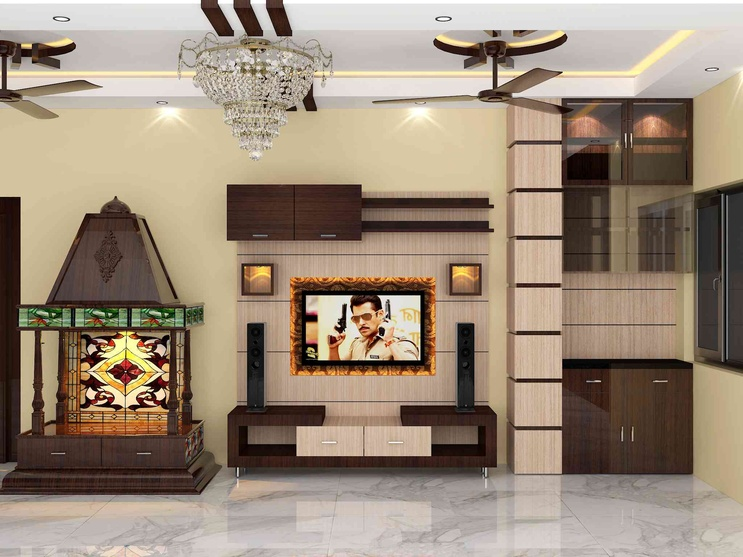 Tv Stand Designs Chennai : Bedroom interior by sunny singh designer in