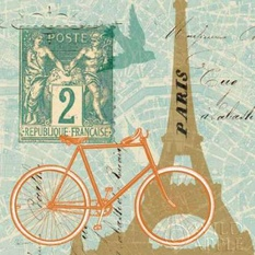 Postcard from Paris Collage Poster