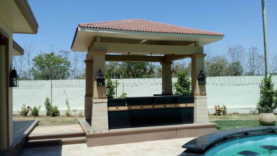 swimming pool side gazebo