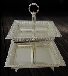 Buy 2-Tier Cake Platter Square