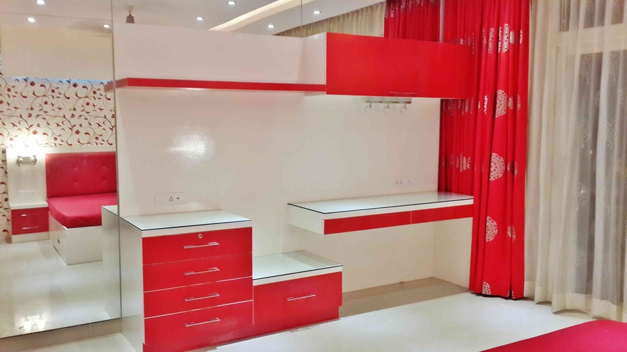 Red & White Cabinets