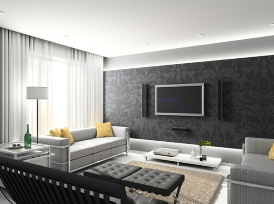 Living Room Wallpaper Designs India, Living Room Wallpaper ...