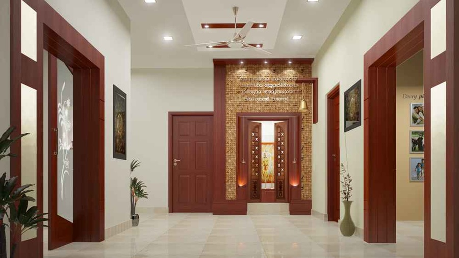 Residentail project of mr gopikrishnan by m s monnaie for Foyer area interior