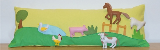 Farm animal long cushion cover