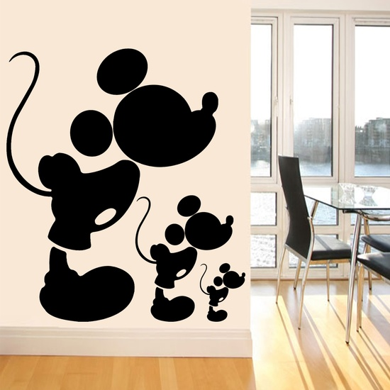Mickey Mouse Wall Decal ( KC115 )