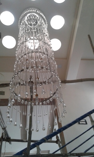 staircase chandelier