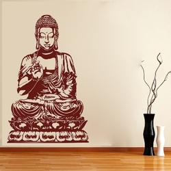 Buddha On Lotus Wall Decal ( KC019 )