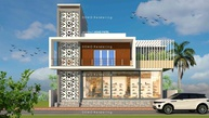 RESIDENTIAL + COMMERCIAL BUILDING AT YEWOLA, NASHIK. BY ARCHITECT ASAD PATEL